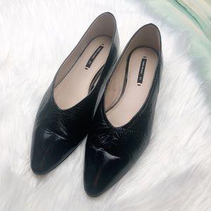 Zara Basic Patent Leather Ballet Flats